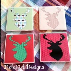 Check out this item in my Etsy shop https://www.etsy.com/listing/213020421/deer-head-coaster-set-deer-silhouette