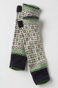 Fairisle Arm Warmers by Anthropologie Knit Mittens, Mitten Gloves, Winter Wear, Autumn Winter Fashion, Clothes Horse, Arm Warmers, Love Fashion, Knitwear, What To Wear