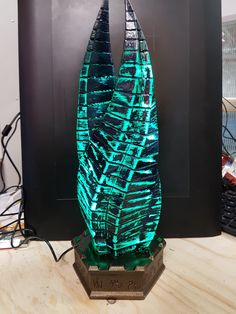 I made a dead space marker lamp for a friend's birthday - this is fucking epic