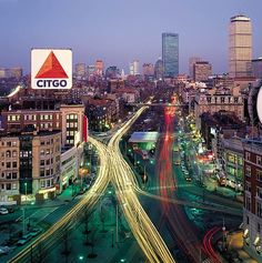 Kenmore Square & the CiTGO sign are special locations and signs of Boston, a quick left will get you over the bridge to Fenway.