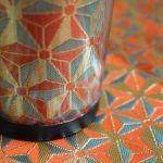 西陣織 金襴 正絹 麻の葉紋様のステンレスタンブラー。 とても目出度い意匠です。使われる方の幸せを願って。 #Shake #Tumbler #cup #fabric #coffee #cafe #silk https://selectjapan.thebase.in/