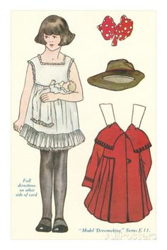 Cut-out Paper Doll, Little Girl Posters at AllPosters.com