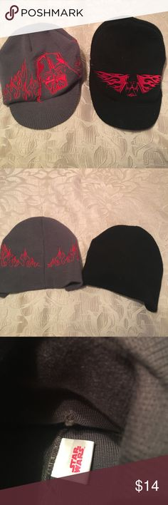 Boys Youth Star Wars Hats Boys Youth Star Wars Hats - Gray with red embroidered detail & Black with red embroidered detail - selling both together Star Wars Accessories Hats