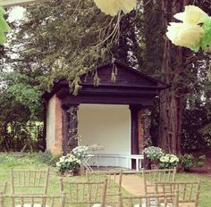 The Folly at Wasing Park is used for outdoor wedding in the Secret Walled Garden and Wasing Woods Wedding Venues.