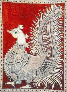 Indian Painting Styles...Kalamkari Paintings (Andhra Pradesh)-1kalamkari-peacock-1-.jpg