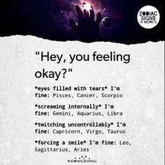 "Signs Reactions On, ""Hey, You Feeling Okay?"" - https://themindsjournal.com/signs-reactions-hey-feeling-okay/"