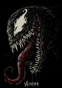 """You are watching the movie Venom on Putlocker HD. When Eddie Brock acquires the powers of a symbiote, he will have to release his alter-ego """"Venom"""" to save his life. Marvel Venom, Marvel Avengers, Venom Spiderman, Venom Tattoo, Arte Do Hip Hop, Venom 2018, Amoled Wallpapers, Venom Art, Marvel Wallpaper"""