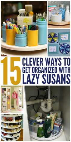 I love lazy susans and they're perfect for organization! - One Crazy House