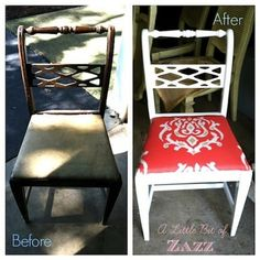 Thrifted Chair Makeover - A Little Bit of Zazz