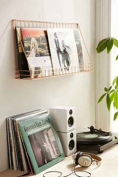 Wire Display Shelf. Vinyl Record Storage ...
