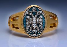 Antique Russian Imperial Men's Ring by Carl Faberge.
