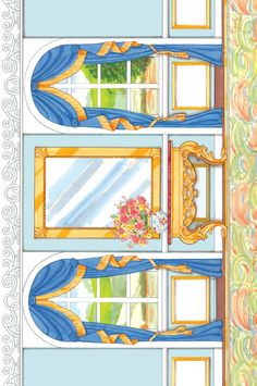 English Country Paper Dolls DOWNTON ABBEY Background Scene SAMPLES  Welcome to Dover Publications 2 of 6