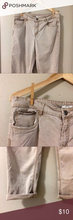 """Maurice's Skinny Boyfriend Stretch Size 11/12 Maurice's Skinny Boyfriend Stretch Size 11/12. Medium tan. Look so cute cuffed. 25"""" inseam, cropped length. Super soft and stretchy! Good condition, no flaws., barely worn. Two pairs available. I can't be the only one who buys things in multiples, can I? Bundle for additional discounts and seller offers. Maurices Pants Ankle & Cropped"""
