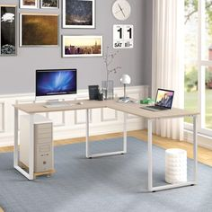 Latitude Run Emelie L-Shape Desk | Wayfair