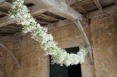 gypsophila garland would be combined with foliage