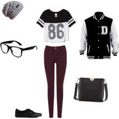 A cute outfit for sport girls with glasses or without glasses