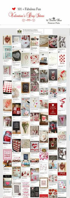 The Decorated House: ~ Celebrating Each Day - 101+  Fabulous Valentine's Day Ideas