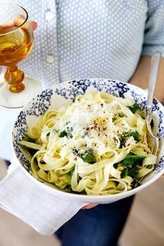 fresh pasta with lemon, rosemary & pine nuts | camille styles
