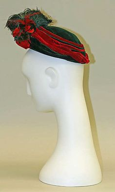 1889 - Hat (torque) ... Silk & Feathers ... American ... at The Metropolitan Museum of Art ... photo 2