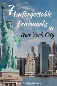 With over 100 Landmarks in New York City, it's too many to see on one visit so we break it down tell you 7 most unforgettable tell you where to get tickets. Usa Travel Map, Usa Travel Guide, Best Travel Guides, Travel Tips, Visit New York City, New York City Travel, Visit Usa, Us Destinations, I Love Nyc