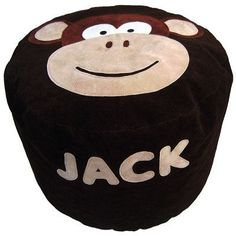 Personalised Bean Bag - Melvin Monkey, Small - PetitePeople, bean bag