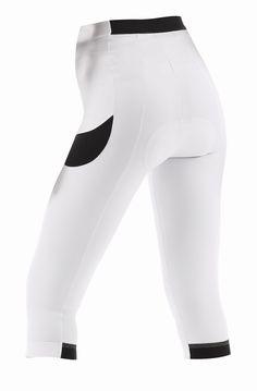 Santini Rea Gel Pad Women's 3/4 Knickers - White