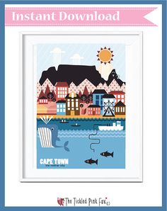 Cape Town the mother city poster von thetickledpinkfox auf Etsy Cute Poster, Naive Art, Cape Town, South Africa, All Things, African, Handmade Gifts, City, Posters