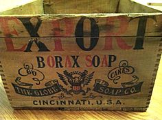 The Globe Soap Co Wooden Crate