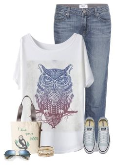 """""""Owl Set"""" by cindycook10 ❤ liked on Polyvore featuring Paige Denim, Harveys, Kendra Scott and Ray-Ban"""