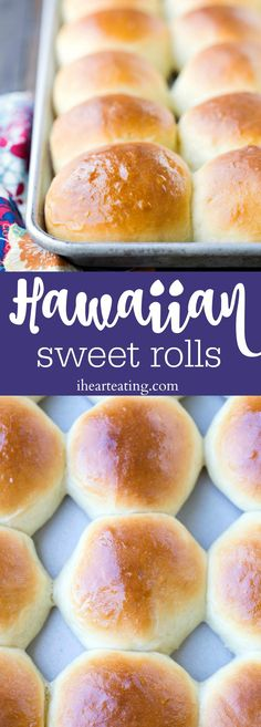 Hawaiian Sweet Rolls - these rolls are so sweet and yummy! This is a great copycat dinner roll recipe!
