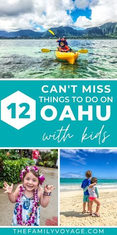Looking for the best things to do on Oahu with kids? We have them all here from beaches to food to activities, plan an amazing Hawaii family vacation! Hawaii Travel Guide, Usa Travel Guide, Travel Usa, Canada Travel, Travel Tips, Hawaii Hikes, Hawaii Hawaii, Travel With Kids, Family Travel