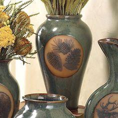 Pinecone Pottery Slender Vase