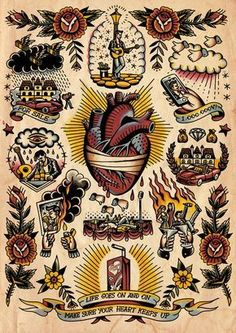 Discover the meaning behind Sailor Jerry's famous old school tattoos, from dragon tattoos to classic skull tattoo designs. Visit our Website for more tattoo designs ideas männer männer ideen old school quotes sketches Tattoo Old School, Old School Tattoo Designs, American Style Tattoo, Traditional Tattoo Man, Vintage Tattoo Art, Oldschool Tattoos, Old School Style, P Tattoo, History Tattoos