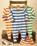 3 Pack Stripe Baby Sleepsuits