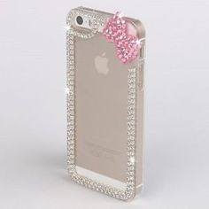 iPod Touch 6th Generation cases with bows   Bling Diamond Bow Phone Case For Apple iPhone iPod Touch Blackberry ...