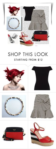"""""""Jewerly inspired! Black leaves necklace!"""" by colchico ❤ liked on Polyvore featuring Manic Panic NYC, Oris, People Tree, Veronica Beard, Prada, Kate Spade, Burberry, handmadejewelry, madeinItaly and jewelryinspired"""