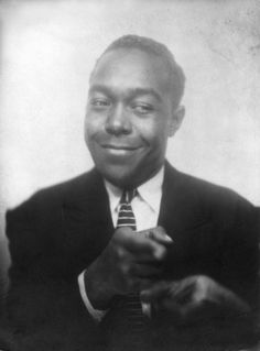 Charlie Parker in a photo booth, Kansas City, 1940