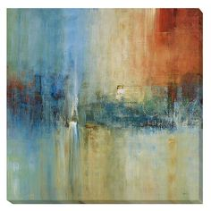 Give your bedroom, living room, or dining room a touch of culture with this blue contemporary canvas art by Simon Addyman. Featuring a cascading vision of color, this abstract canvas would add a splash of color to any plain wall or living space.