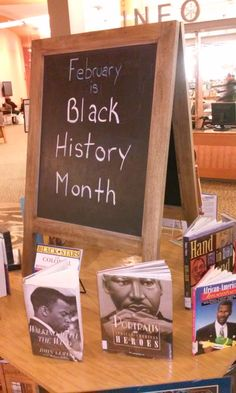 Black History Month display at Rockville Library