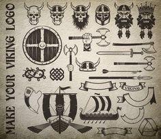 Viking logo bundle on Behance