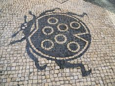 Detail - Portuguese cobblestone pavement in Macau. Pebble Mosaic, Pebble Art, Mosaic Art, Portugal, Macau Travel, Stone Road, Colonial Architecture, Mosaic Garden, Sidewalks
