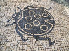 Detail - Portuguese cobblestone pavement in Macau. Pebble Mosaic, Pebble Art, Mosaic Art, Portugal, Macau Travel, Stone Road, Colonial Architecture, Mosaic Garden, Sidewalks