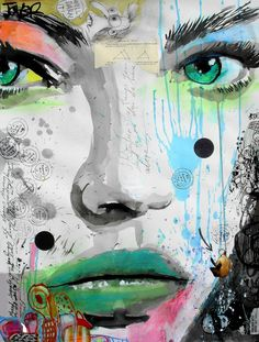 "Loui Jover; Ink, 2013 ""bloom"""
