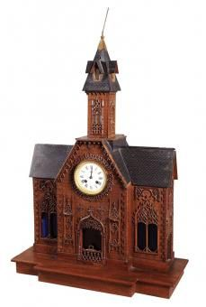 19th Century Swiss Black Forest Carved Clock
