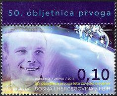 Yuri Gagarin stamp  Bosnia-Herzegovina, 2011