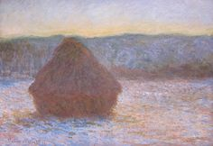 Claude Monet French, Stack of Wheat (Thaw, Sunset) 1890 Chicago Institute of Art Claude Monet, Art Periods, Monet Paintings, Sunset Art, National Gallery Of Art, Post Impressionism, Painting Gallery, Modern Artists, French Artists