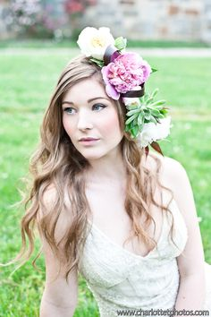 Whimsical hair and flowers