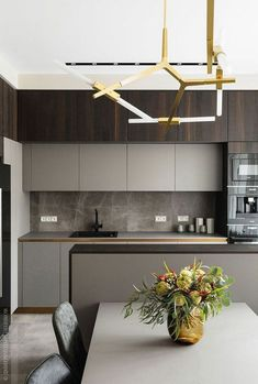 53 Favorite Modern Kitchen Design Ideas To Inspire. When it comes to designing the modern kitchen, people typically take one of two design paths. The first path uses modern art . Luxury Kitchen Design, Contemporary Kitchen Design, Best Kitchen Designs, Interior Design Kitchen, Modern Interior Design, Contemporary Interior, Design Bathroom, Modern Decor, Apartment Interior Design