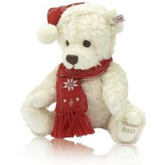 Steiff Chester Harrods Christmas Bear 2012 (u20ac82) ❤ Liked On Polyvore  Featuring Christmas