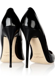 Jimmy Choo | Anouk patent-leather pumps  | NET-A-PORTER.COM